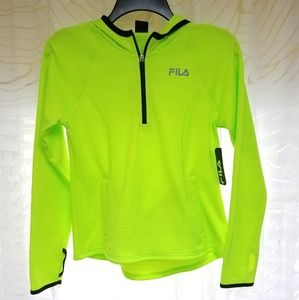 FILA Sport Athletic Lime 1/4 Zip Pullover Jacket